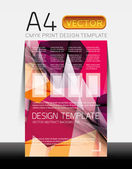 Vector Modern Flyer Design — Stock Vector
