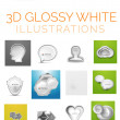Vector 3d glossy white illustrations — Stock Vector #50284617