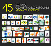 Set of various abstract backgrounds — Stock Vector