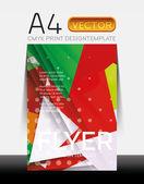 Vector Modern Flyer Design — Vettoriale Stock