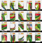 Set of business geometric design flyer templates — Stock Vector