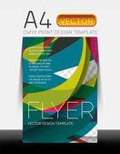 Vetor moderno flyer design — Vetor de Stock