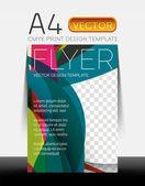 Vector design moderno flyer — Vettoriale Stock