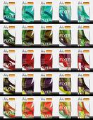 Conjunto de negócios de design geométrico modelos de folhetos — Vetorial Stock