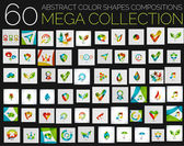Vector abstract colorful shapes various concepts — Vector de stock