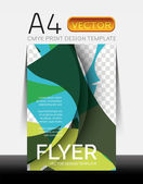 Vector Modern Flyer Design — Stock Vector