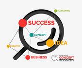 Marketing analysis concept vector — Stock Vector