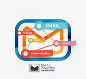 Email infographics with tags — Stockvektor