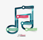Music note infographic flat concept — Stock Vector