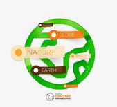 Eco Earth globe infographic concept — Vector de stock