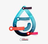 Water drop info layout concept — Stock Vector