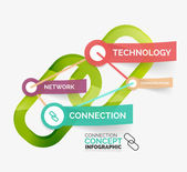 Vector connection concept infographic — Stock Vector