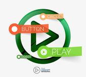 Vector play button infographic concept — Stock Vector