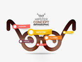 Hipster glasses infographic concept — Stock Vector