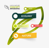 Eco leaf infographic concept — Vector de stock