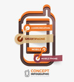 Vector smartphone icon infographic concept — Stock Vector