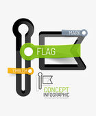 Vector flag icon infographic concept — Stock Vector