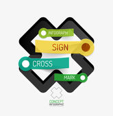 Vector cross shape infographic concept — Stock Vector