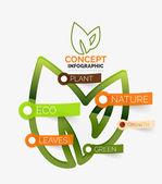 Eco leaves infographic concept — Stok Vektör