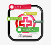 Vector medicine cross infographic concept — Stockvector