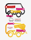 Vector car infographic, tag cloud — Stock Vector