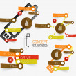 Vector usb flash infographic with keywords — Stock Vector #50887523