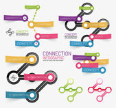 Vector connection theme keyword infographic — Stock Vector