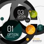 Vector infographic report template — Stock Vector #51062233