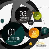 Vector infographic report template — Stock Vector