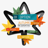 Autumn option infographic, banner minimal design — Stock Vector