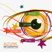 Autumn option infographics and human eye — Stock Vector