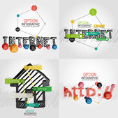 Hand drawn internet concepts and stickers — Stock Vector