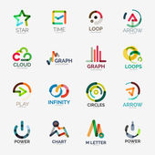 Abstract company logo vector collection — Vector de stock