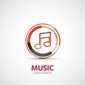Vector music company logo, business symbol concept — Cтоковый вектор