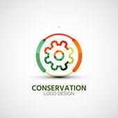Gear company logo, business concept — Stock Vector