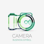 Camera icon company logo, business symbol concept — Stock Vector
