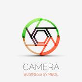 Shutter icon company logo, business symbol concept — Stock Vector
