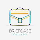 Briefcase icon company logo, business concept — Stock Vector