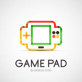 Gamepad company logo, business concept — Stock Vector