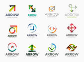 Collection of arrow company logos — Vettoriale Stock