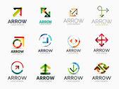 Collection of arrow company logos — Stock Vector