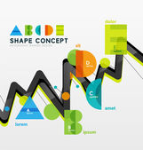Business geometric infographic diagram layout — Vetor de Stock