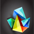 Vector abstract pyramid background — Stock Vector #6135478