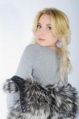 Beautiful girl blonde — Stock Photo