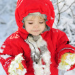 Royalty-Free Stock Photo: The little girl in the snow