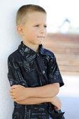 十几岁男孩的一幅肖像 — 图库照片