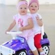 Stock Photo: Sisters twins for a walk