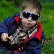 Trendy little boy with glasses — Stock Photo #29730339