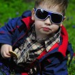 Trendy little boy with glasses — Stock Photo #30026959