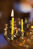 Burninging vela — Foto de Stock